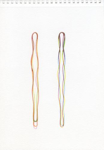 Didier Mencoboni, Sans titre, aquarelle, 21 x 30 cm, ©galerie Eric Dupont, Paris.
