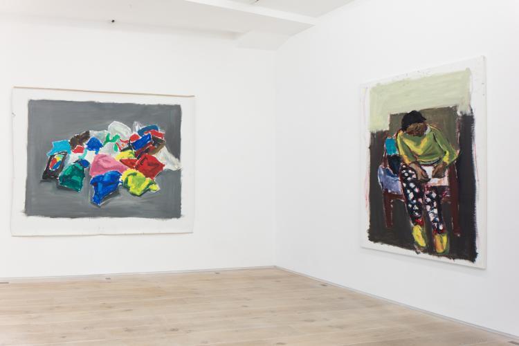 Exhibition view : Damien Cabanes, 2017, Galerie Eric Dupont. Photographer : Jean-François Rogeboz, © galerie Eric Dupont, Paris.